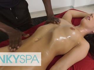 KinkySpa – Sexy Brunette Whitney Wright Gets A Massage & A Bbc