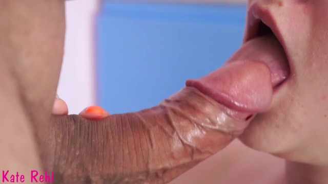 Slow passionate blowjob Cum in my mouth. gentle, slow blowjob close-up. pulsate cock and creampie
