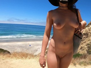 Teaser nude hike down to the beach...