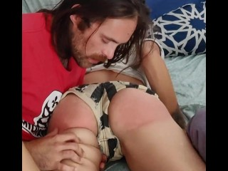 Brutal spanking pussy spanking real orgasm short haired cutie