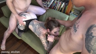 First time double vaginal for Penny Archer - w/ Rico Reyes & Randy Denmark