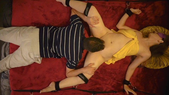 Magic fingers bed vibrator Tickle, tease, taste camera 1 - full movie - sxysorcerersupreme - overhead view bed bondage