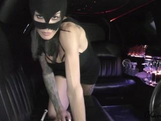 4k classy escort strip in limousine blowjob squirt...