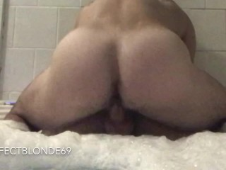 Fitness Instagram Model Big Ass Blonde Rough Fuck on the Hot Tub - Cowgirl, Prone Bone, Blowjob