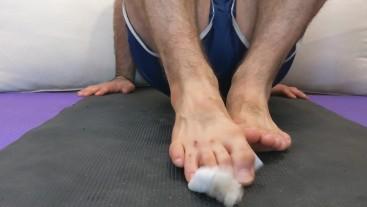 Dirty feet. cutting my toenails