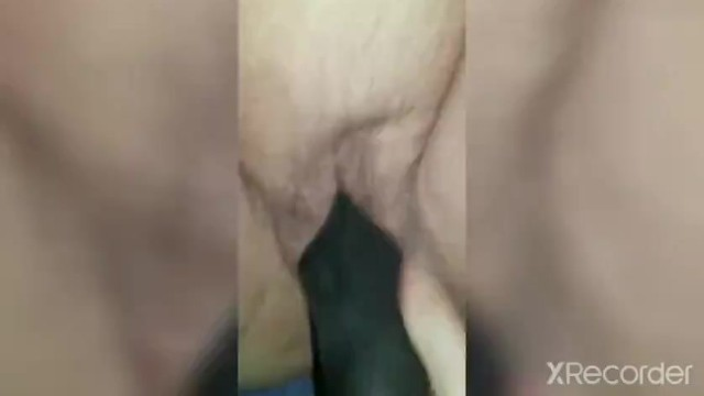 Heidi gets fucked with a huge black dildo 11