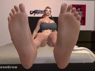 Brigitte's Expansive Growth (Feet Expansion, Breast Expansion, Ass Expansion, Mini gts)