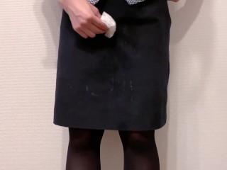 сперма на японскую офисную униформу