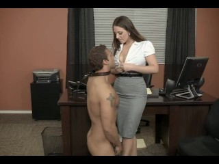 Angela White x Rocco Reed Big Tits Office Hardcore