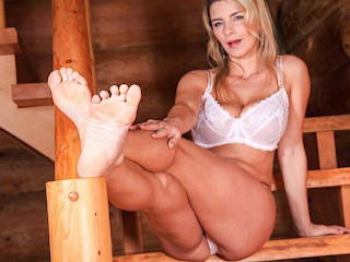 Katerina Hartlova foot job and ride on dildo