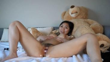Ashley Aoki- Oily Hairy Pussy Fingering