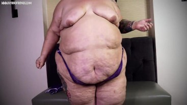 SSBBW FEEDEE IVY DAVENPORT OUTGROWN LINGERIE - TOO TIGHT CLOTHES