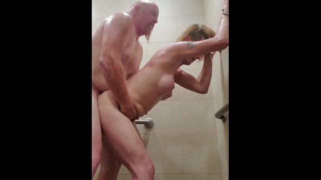 Drinking pantyhose blonde Transgirl drinks hubbys piss and gets anal creampie