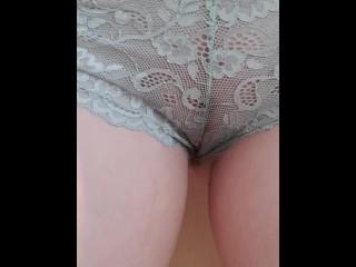 MILF pantie pissing