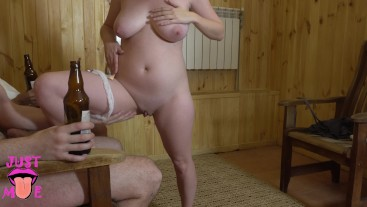 Leaked video from private party. Hot girl teasing clients