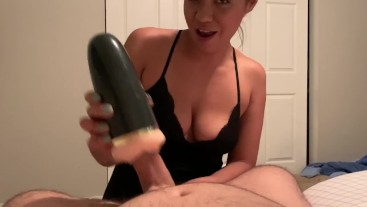 Sexy Latina Talks Dirty While Showing Off Pretty Feet and Uses Fleshlight to Finish POV