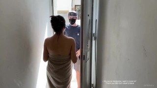 Milf cheating wife order anime costume and fucks Amazon delivery guy
