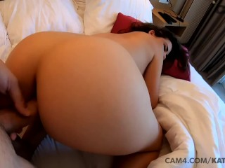 PAWG takes a dick doggy style in her hotel room POV | CAM4
