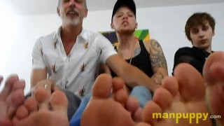 Giant Pornstars Gang Up On You - JC Dickerson - Elis Ataxxx - Richard Lennox - Manpuppy