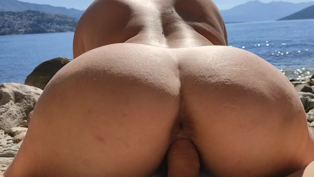 Nude swimming hole Step mom fucking on a nuduistic beach with stepson while husbands swim.