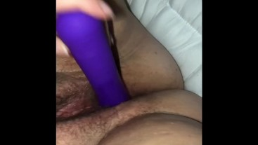 BBW playing with super wet pussy