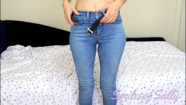 Hot Wife in Tight Jeans - Sucking Fingers, Gagging, BJ, Choking, DDLG, Fetish - SmilesofSally