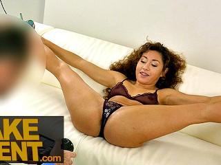 Fake Agent Sticky facial for sexy ass latina Melody Petite
