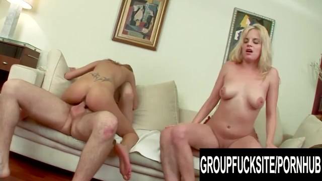 Group Fuck Site - GFs Peneloppe Ferre and Brigitta Toth Cock Riding Contest 14