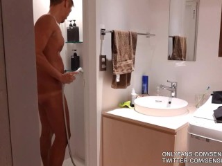 Bonus video muscular and tanned japanese daddy comes...