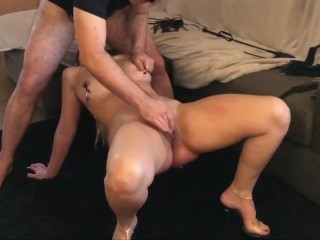 Acrobatic Reverse Blowjob Deep Throat BDSM – Sex And Heels
