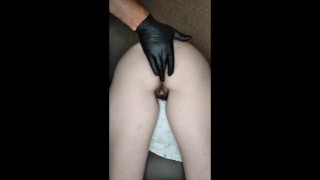 Anal training and anal fucking at home