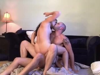 Threesome fucking while getting fucked by johnny hill...