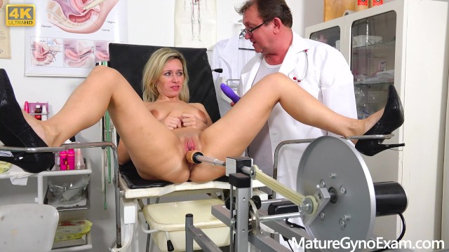 Chair bottom clips Shy submissive milf made to cum in gyno chair