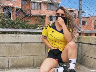 I was dared to play football with my lovense lush on, watch how I squirt on my pants!