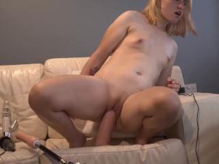 Teen rides Giant dildo and cums / Casey Jones