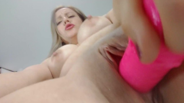 Fucking my tight pussy with my dildo 20
