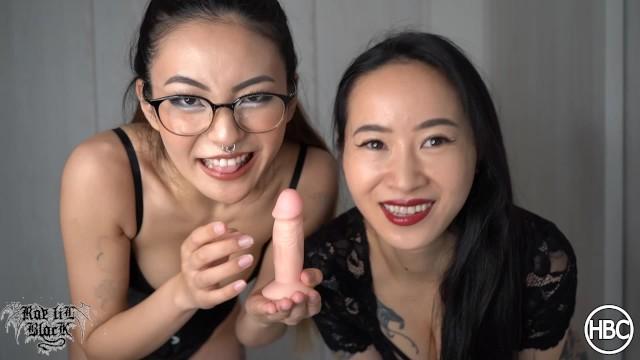 Humiliating handjobs Small dick humiliation - double femdom rae lil black