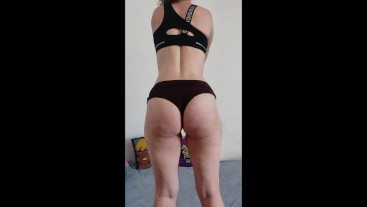 JOI Fit French chick challenges you to NOT cum, prostate play