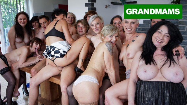 Group of mature The granny fuck fest never ends