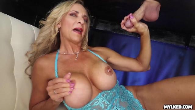 Boobs for blgium Big boob milf handjob at milking table
