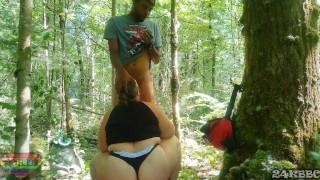 bbw neighbor sucks my cock in the woods