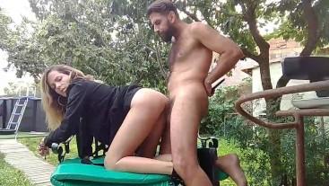 Outdoor Hot Fuck Creampie