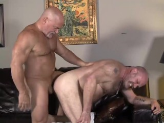 Hairy daddies have a raw fuck session full...