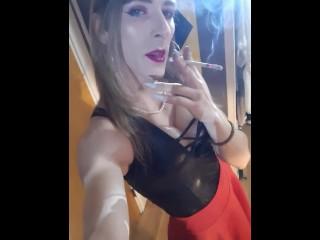 Tranny fetish smokes vs120s...