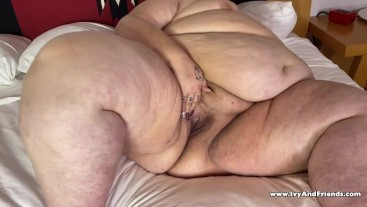 SSBBW Ivy Davenport Shows off her Fat Pussy FUPA