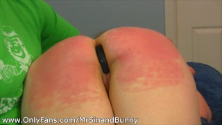 Little Redhead Over the Knee Spanked, Med Play, Temperature and Ice Anal Play