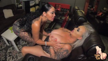 PAWGS Kendra Kox and Queen Rouge Lick Squirt and Eat Ass