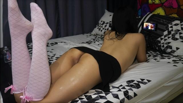 Hidden masturbation Young innocent japanese school girl caught on hidden camera watching hentai while masturbating