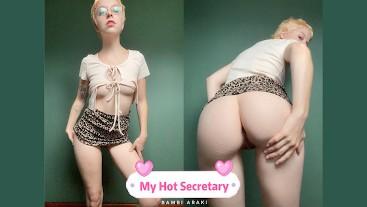 Slutty Secretary Sucks Her Bosses Big Dick on IPhone