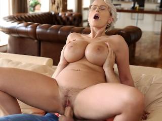 Stepson Fucks Big Titted Stepmom